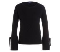 Cashmere/Seide-Pullover - schwarz