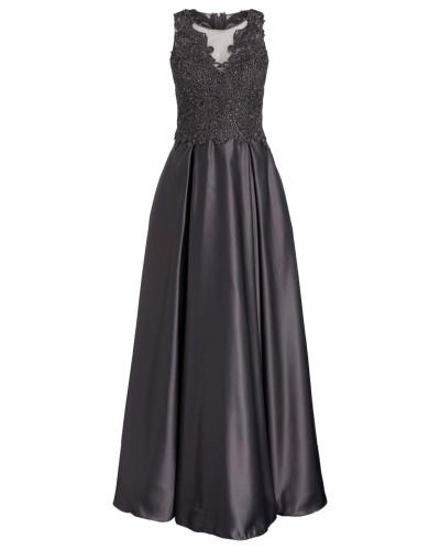 Kleid mit Stickerei und Glitzersteinbesatz