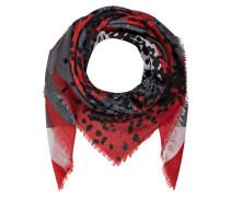 Tuch 555 - schwarz/ grau/ rot