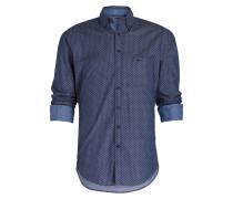 Hemd Casual-Fit - blau/ schwarz