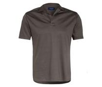 Jersey-Poloshirt Slim Fit mit Leinen