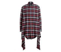Flannelhemd - grau/ rot