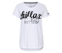 T-Shirt mit Nieten- und Paillettenbesatz