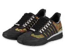 Sneaker - schwarz/ oliv/ braun