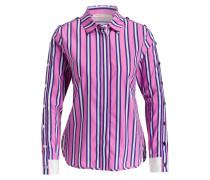 Bluse CENALI - pink/ blau/ weiss gestreift