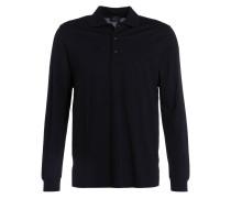 Piqué-Poloshirt - schwarz