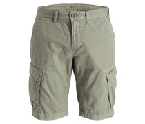Cargo-Shorts Straight-Fit - grün