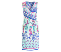 Kleid in Wickeloptik - weiss