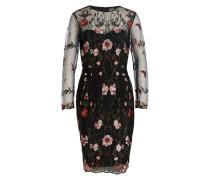Kleid MIRIAM - schwarz/ grün/ rot