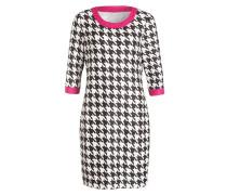 Kleid - schwarz/ weiss/ pink