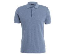 Poloshirt IRAM - blau meliert
