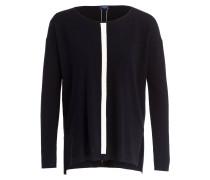 Cashmere-Pullover - schwarz/ weiss