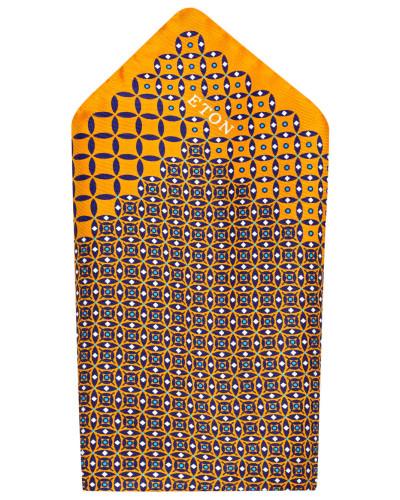 Einstecktuch - orange/ navy/ weiss