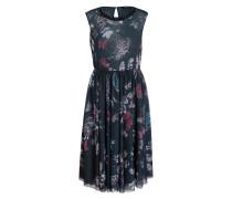Kleid POLONIA - dunkelgrün/ mint/ rot