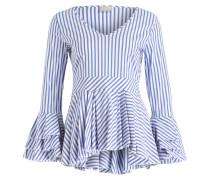 Bluse - blau/ weiss gestreift