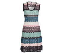 Kleid - rosa/ braun/ petrol