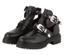 Boots im Biker-Stil - schwarz