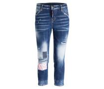 7/8-Jeans COOL GIRL - hellblau flower