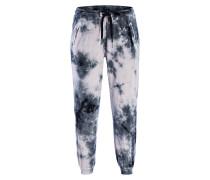 Hose im Jogging-Stil - schwarz/ grau/ ecru
