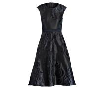 Jacquard-Kleid ADARA - marine/ schwarz