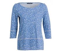 Shirt mit 3/4-Arm - blau/ weiss