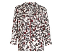 Pyjamashirt JUDE - offwhite/ schwarz/ rot