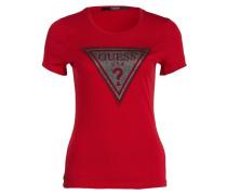 T-Shirt - rot/ silber