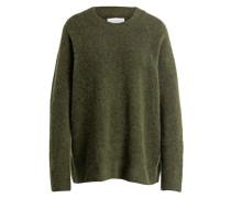 Pullover mit Alpaka-Anteil - grün