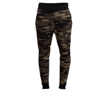 Sweatpants DILITARY - schwarz/ braun/ grün