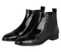 Chelsea-Boots aus Lackleder
