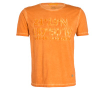T-Shirt - orange meliert