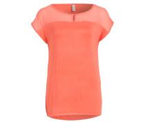 T-Shirt KIWI im Materialmix - koralle