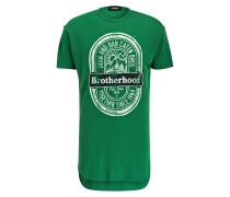 T-Shirt BROTHERHOOD aus Schurwolle - grün