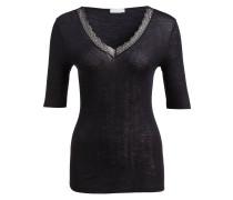 Shirt WOOLEN LACE - schwarz