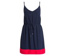 Kleid - dunkelblau/ rot
