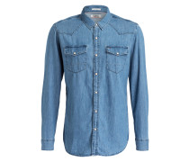 Jeanshemd Regular-Fit - hellblau
