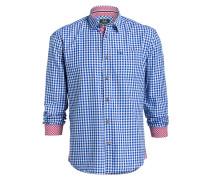 Trachten-Hemd ANTON - blau