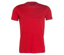 T-Shirt mit monochromem Logo-Stitching