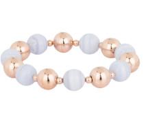 Armband VARIEGATA - roségold/ blau
