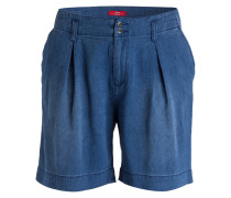Shorts in Denim-Optik - blau