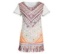 T-Shirt - weiss/ lila / orange