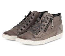 Hightop-Sneaker - taupe/ silber metallic