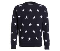 Sweatshirt - navy/ weiss
