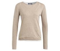Pullover - beige meliert