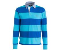 Rugby-Shirt - türkis/ blau gestreift