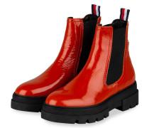 Chelsea-Boots - DUNKELORANGE