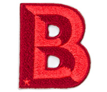 Patch SINGLE LETTER - bordeaux/ rot