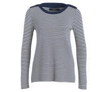 Pullover - blau/ ecru gestreift