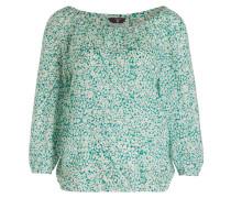 Bluse - grün/ weiss