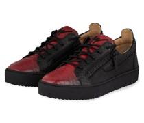 Plateau-Sneaker PYTHON - SCHWARZ/ ROT